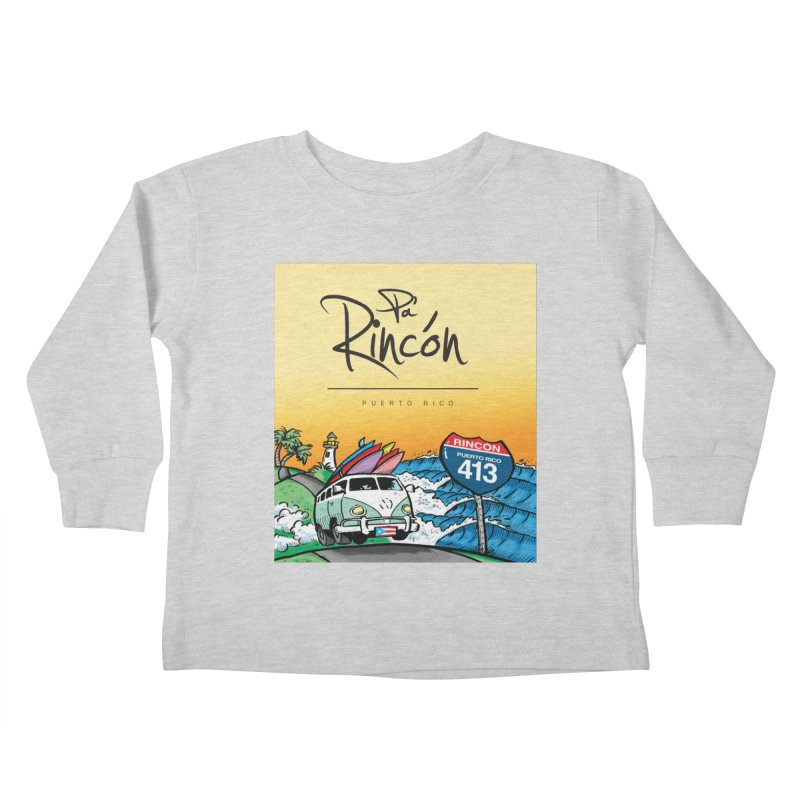 Pa' Rincón ( color ) Kids Toddler Longsleeve T-Shirt by La Tiendita Pepito