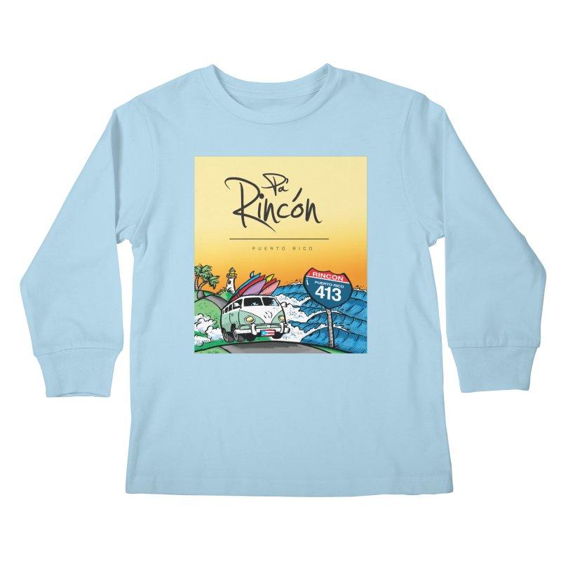 Pa' Rincón ( color ) Kids Longsleeve T-Shirt by La Tiendita Pepito