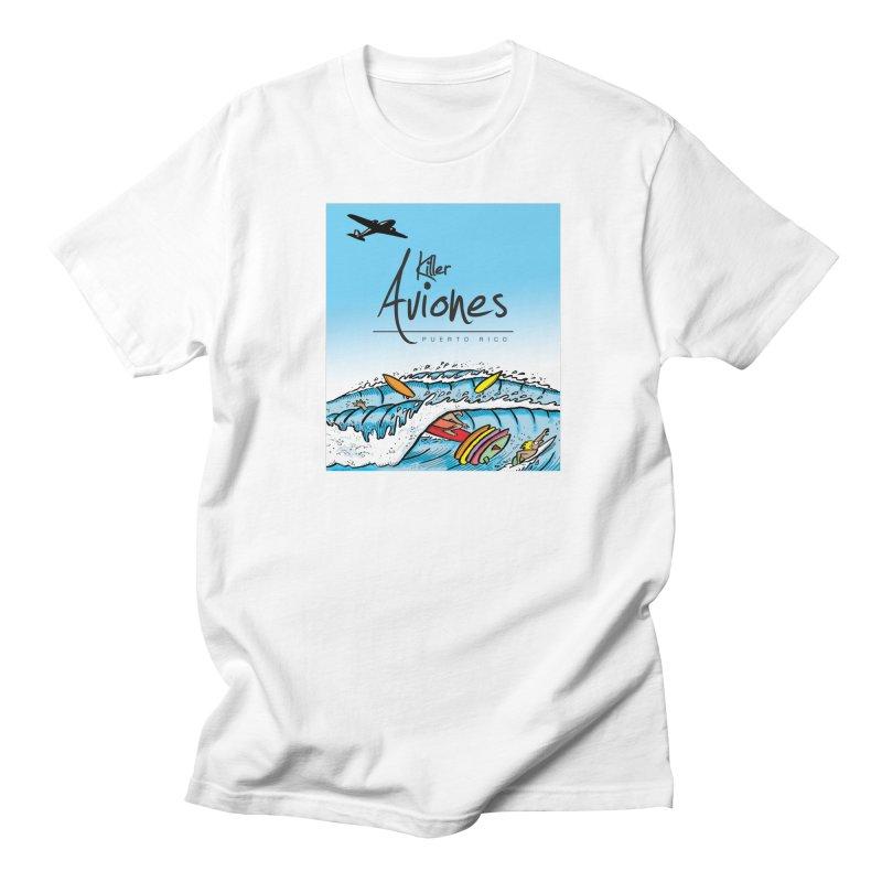 Killer Aviones in Men's Regular T-Shirt White by La Tiendita Pepito