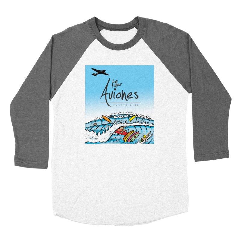 Killer Aviones Women's Baseball Triblend Longsleeve T-Shirt by La Tiendita Pepito