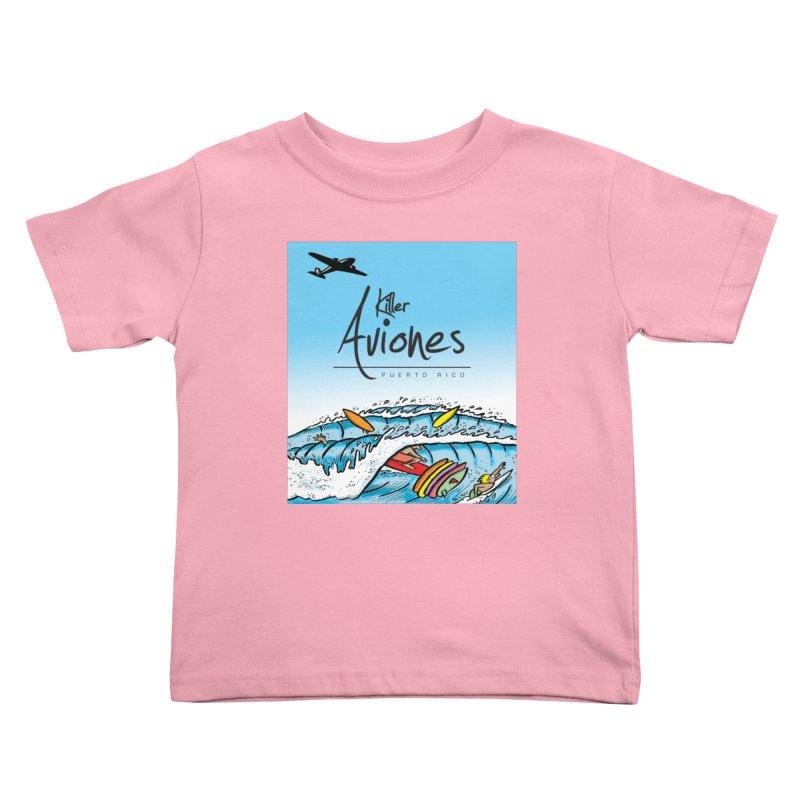 Killer Aviones Kids Toddler T-Shirt by La Tiendita Pepito