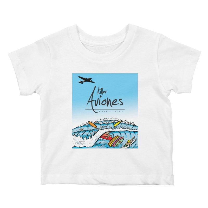 Killer Aviones Kids Baby T-Shirt by La Tiendita Pepito