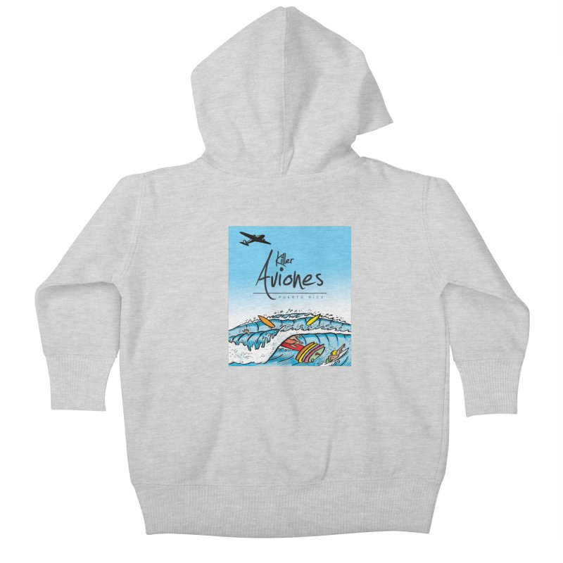 Killer Aviones Kids Baby Zip-Up Hoody by La Tiendita Pepito