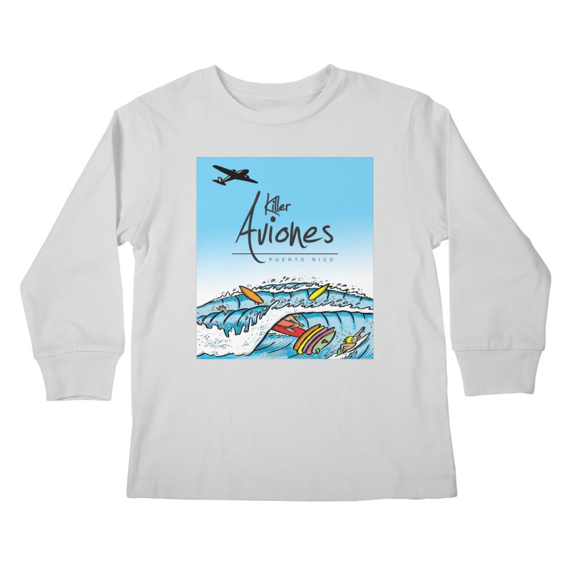 Killer Aviones Kids Longsleeve T-Shirt by La Tiendita Pepito