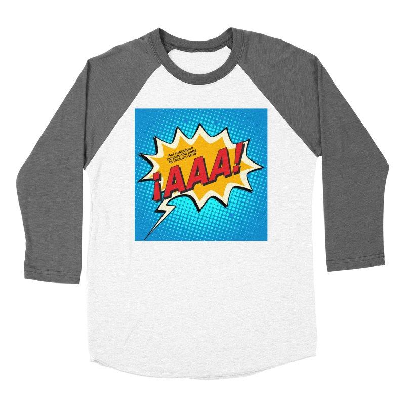 ¡AAA! Women's Baseball Triblend Longsleeve T-Shirt by La Tiendita Pepito