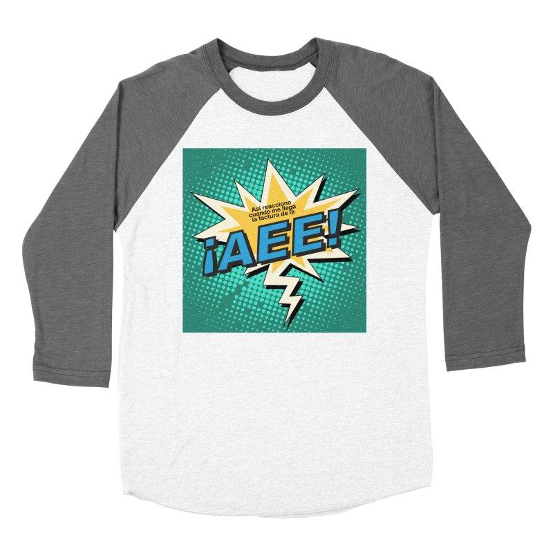 ¡AEE! Men's Baseball Triblend Longsleeve T-Shirt by La Tiendita Pepito