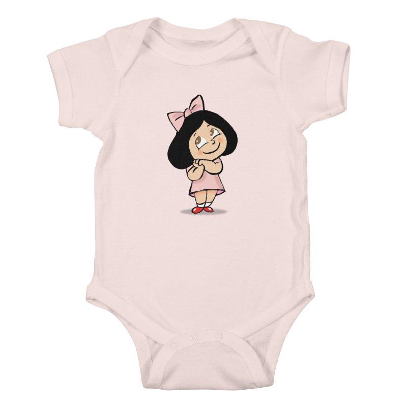 Yelitza in Kids Baby Bodysuit Soft Pink by La Tiendita Pepito
