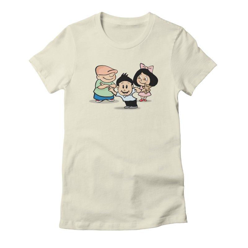 La Ganga in Women's Fitted T-Shirt Natural by La Tiendita Pepito
