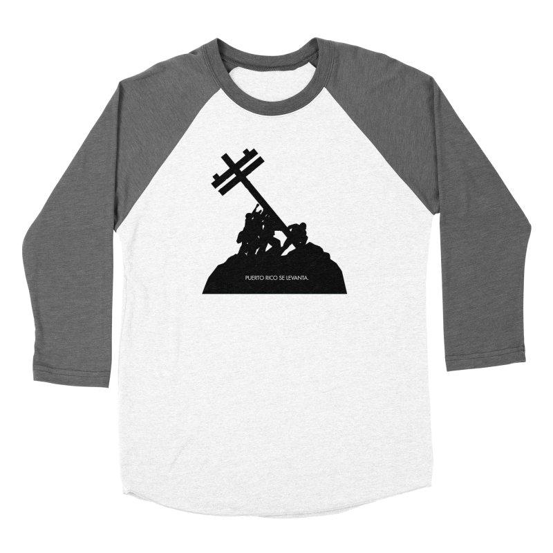Puerto Rico se levanta Men's Baseball Triblend Longsleeve T-Shirt by La Tiendita Pepito