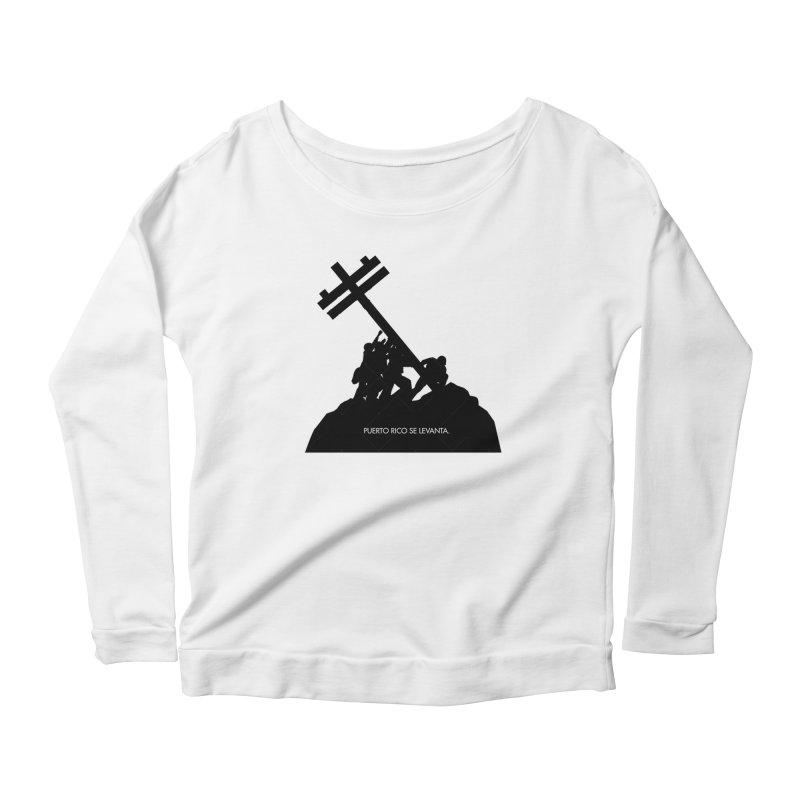 Puerto Rico se levanta Women's Scoop Neck Longsleeve T-Shirt by La Tiendita Pepito
