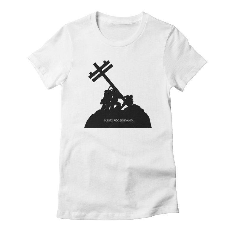 Puerto Rico se levanta Women's Fitted T-Shirt by La Tiendita Pepito