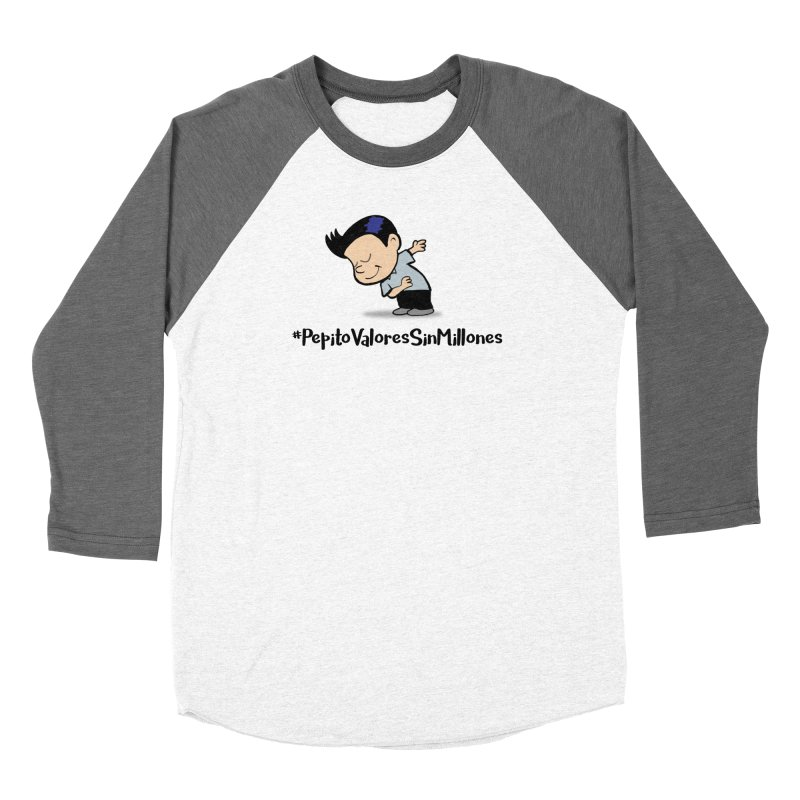 Valores Men's Baseball Triblend Longsleeve T-Shirt by La Tiendita Pepito