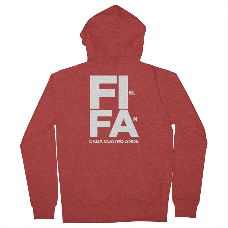 FIFA Men's French Terry Zip-Up Hoody by La Tiendita Pepito
