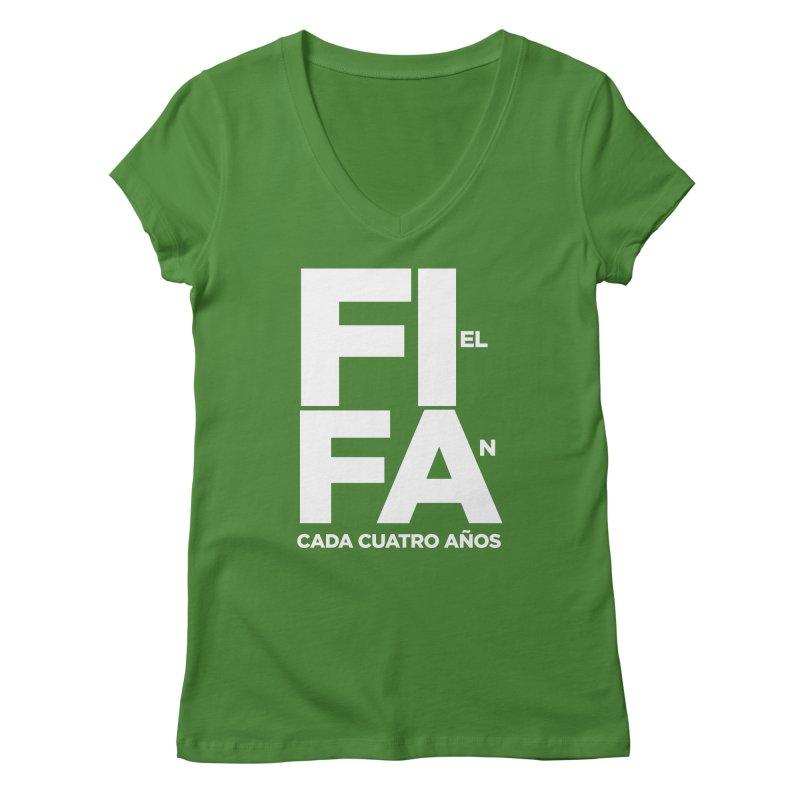 FIFA Women's Regular V-Neck by La Tiendita Pepito