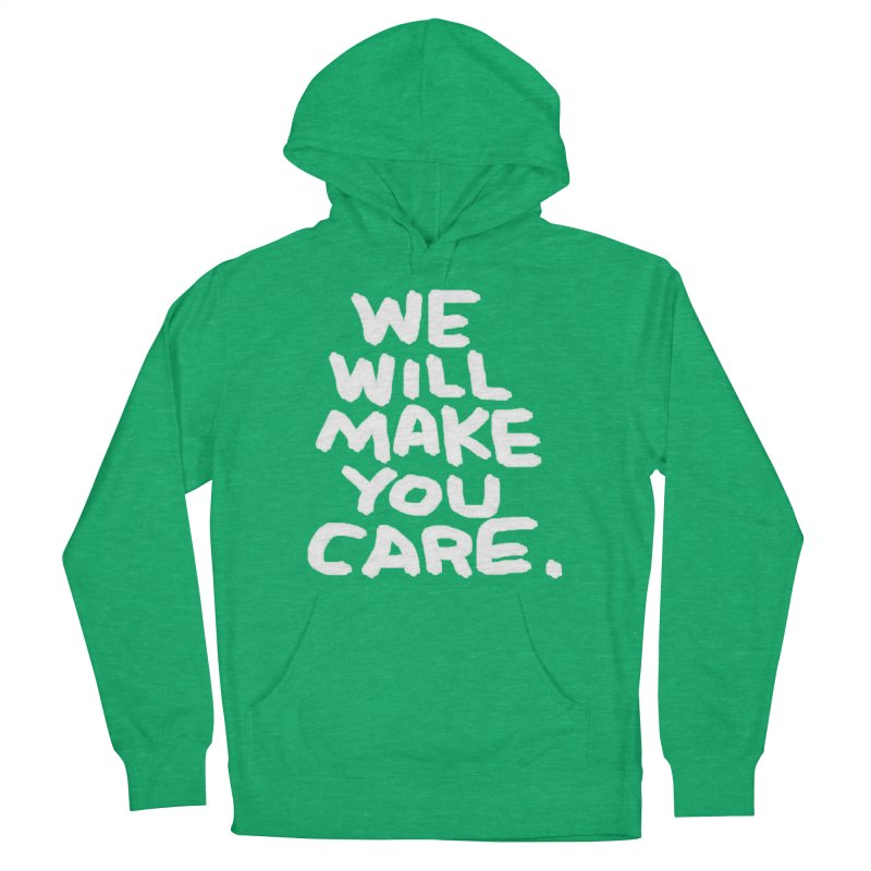 We will make you care. Men's French Terry Pullover Hoody by La Tiendita Pepito