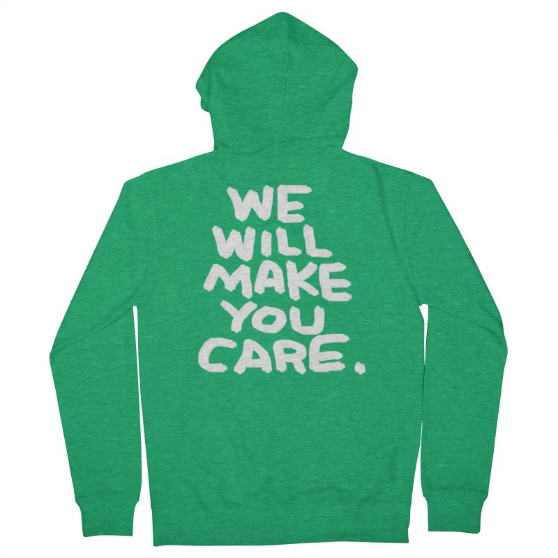 We will make you care. Men's French Terry Zip-Up Hoody by La Tiendita Pepito