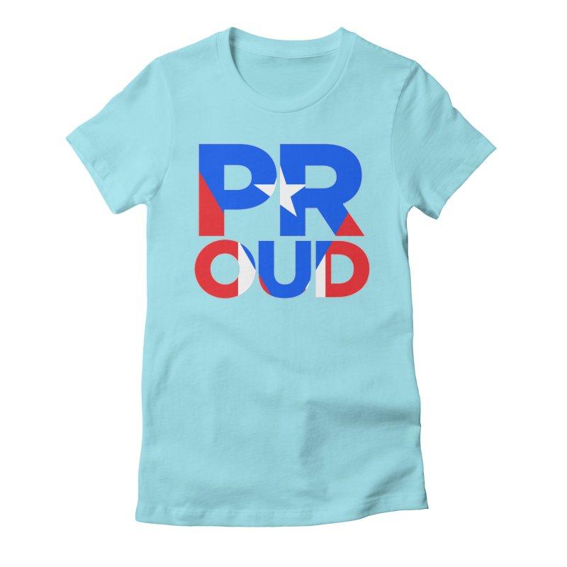 PROUD Women's Fitted T-Shirt by La Tiendita Pepito