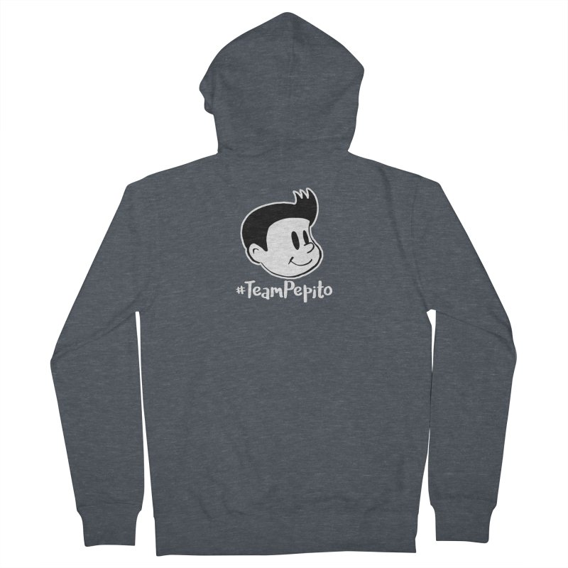 #TeamPepito Reversed Women's French Terry Zip-Up Hoody by La Tiendita Pepito