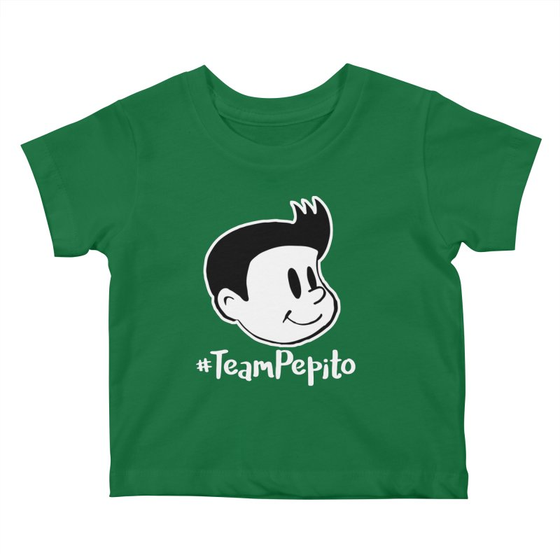 #TeamPepito Reversed Kids Baby T-Shirt by La Tiendita Pepito