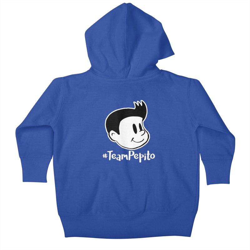 #TeamPepito Reversed Kids Baby Zip-Up Hoody by La Tiendita Pepito