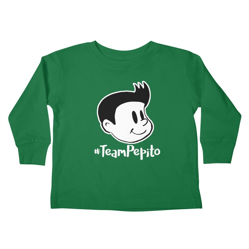 #TeamPepito Reversed Kids Toddler Longsleeve T-Shirt by La Tiendita Pepito