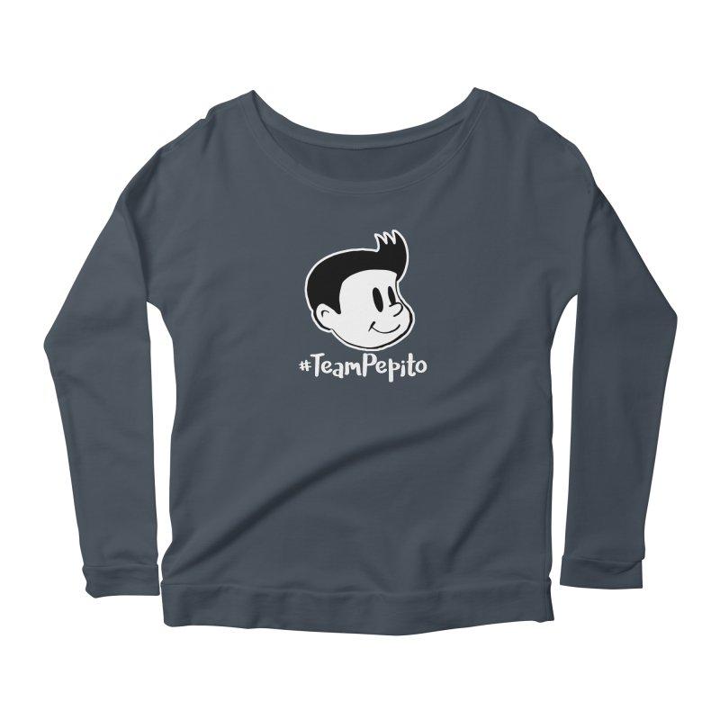 #TeamPepito Reversed Women's Scoop Neck Longsleeve T-Shirt by La Tiendita Pepito