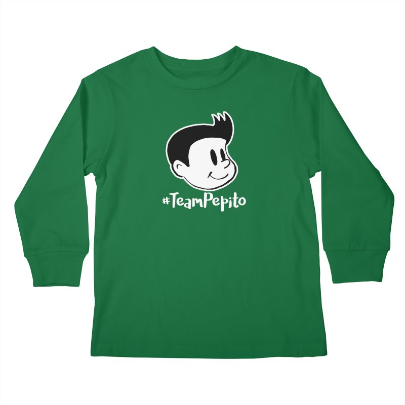 #TeamPepito Reversed Kids Longsleeve T-Shirt by La Tiendita Pepito