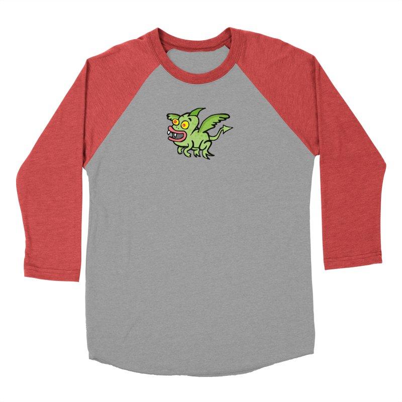 Chupi con Alas Men's Baseball Triblend Longsleeve T-Shirt by La Tiendita Pepito