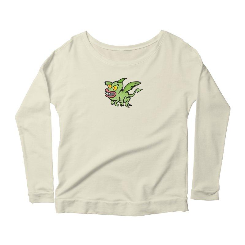 Chupi con Alas Women's Scoop Neck Longsleeve T-Shirt by La Tiendita Pepito