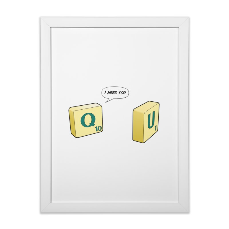 Scrabble love Home Framed Fine Art Print by peregraphs's Artist Shop