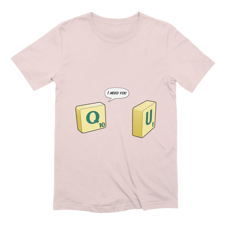 Scrabble love Men's Extra Soft T-Shirt by peregraphs's Artist Shop