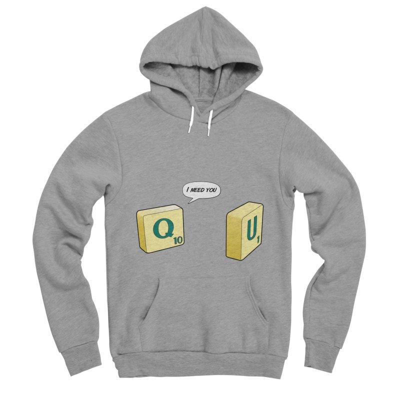 Scrabble love Men's Sponge Fleece Pullover Hoody by peregraphs's Artist Shop