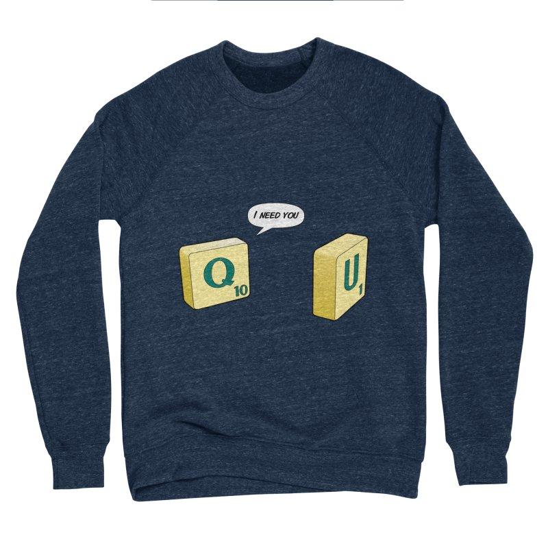 Scrabble love Women's Sponge Fleece Sweatshirt by peregraphs's Artist Shop