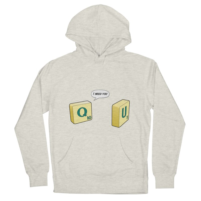 Scrabble love Women's French Terry Pullover Hoody by peregraphs's Artist Shop