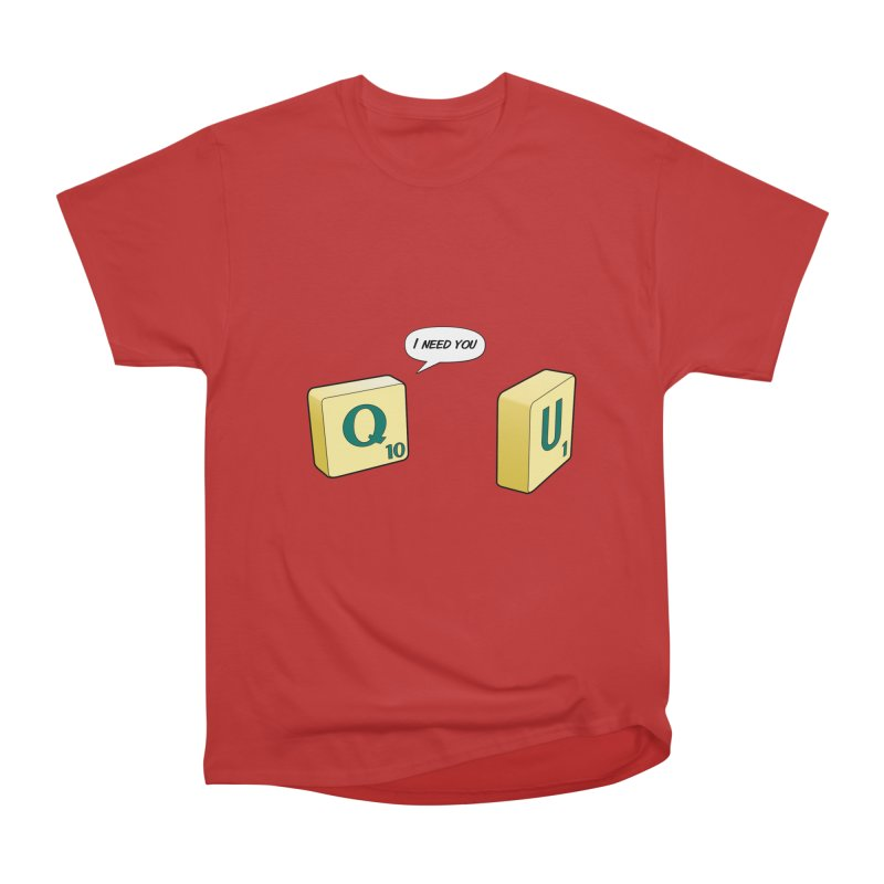 Scrabble love Men's Heavyweight T-Shirt by peregraphs's Artist Shop