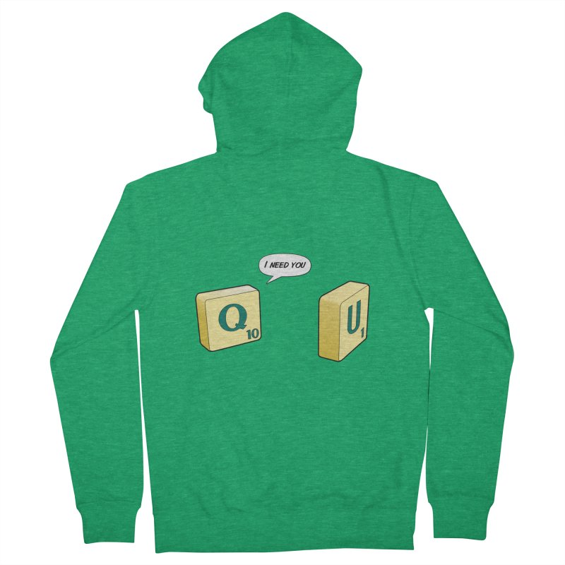 Scrabble love Women's Zip-Up Hoody by peregraphs's Artist Shop