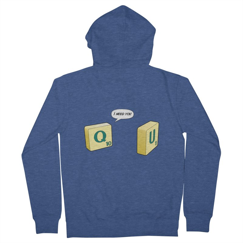 Scrabble love Women's French Terry Zip-Up Hoody by peregraphs's Artist Shop