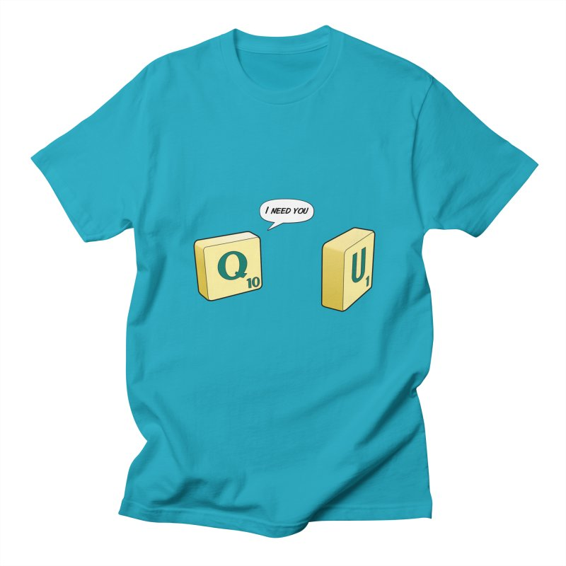 Scrabble love in Men's T-shirt Cyan by peregraphs's Artist Shop