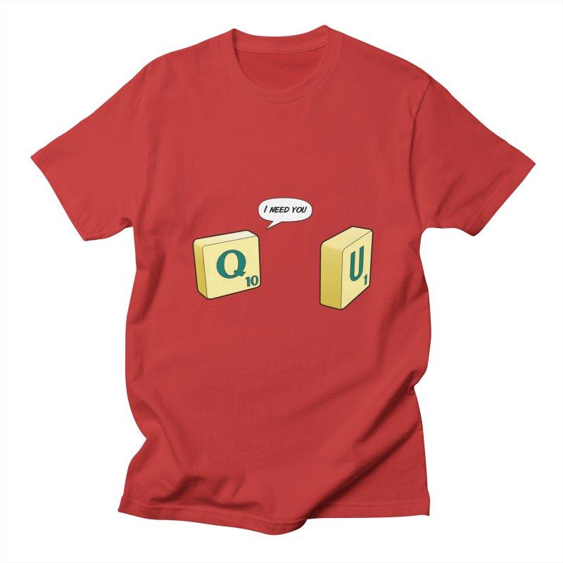 Scrabble love Men's Regular T-Shirt by peregraphs's Artist Shop