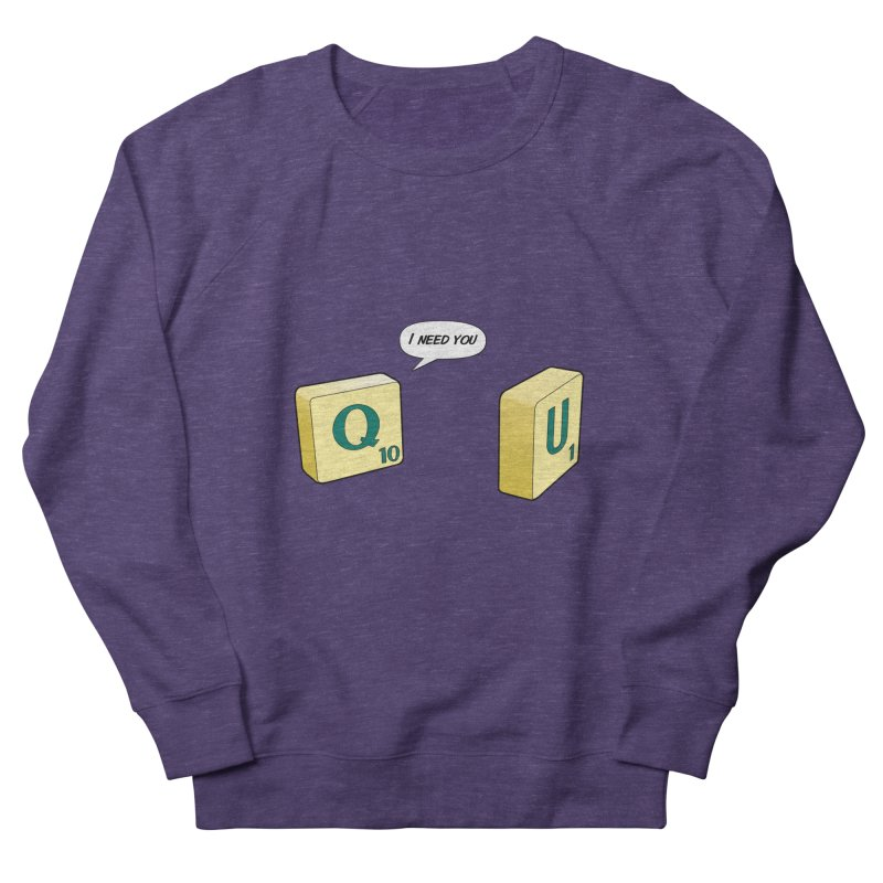 Scrabble love Women's French Terry Sweatshirt by peregraphs's Artist Shop