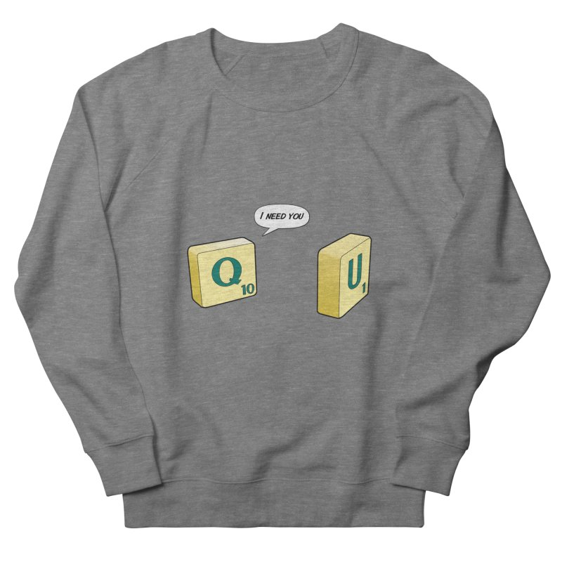 Scrabble love Women's French Terry Sweatshirt by peregraphs's Artist Shop