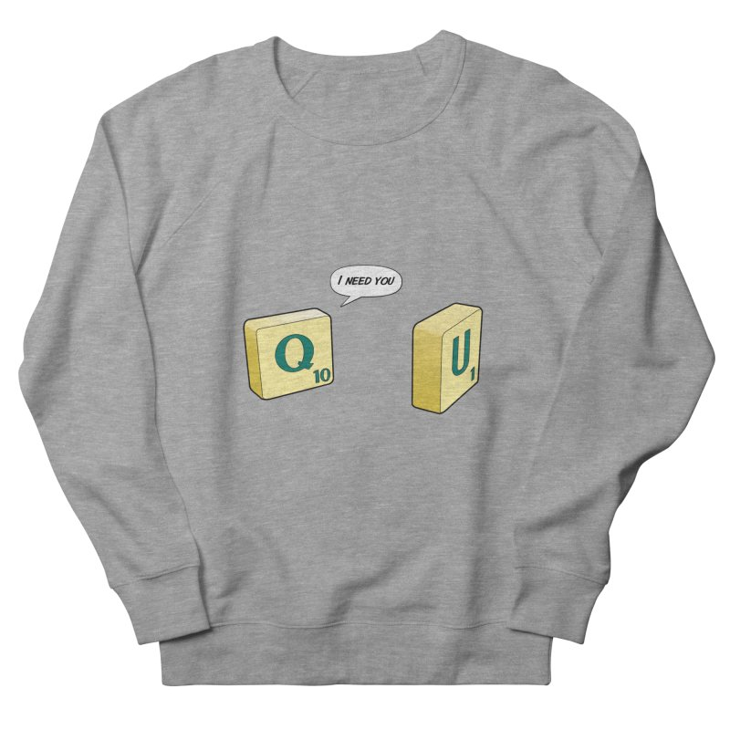 Scrabble love Men's French Terry Sweatshirt by peregraphs's Artist Shop