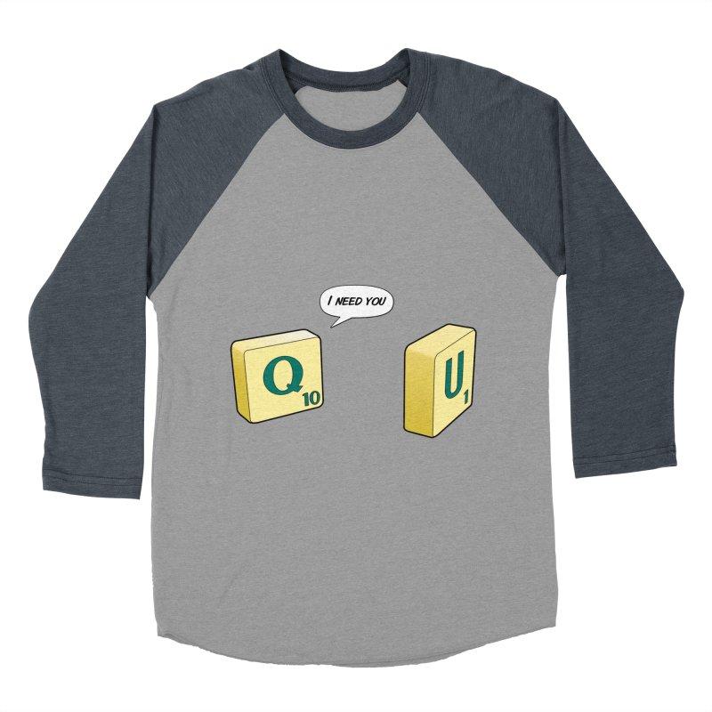 Scrabble love Women's Baseball Triblend Longsleeve T-Shirt by peregraphs's Artist Shop