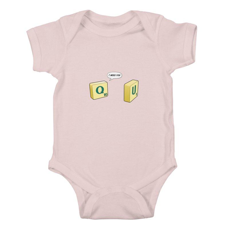 Scrabble love Kids Baby Bodysuit by peregraphs's Artist Shop