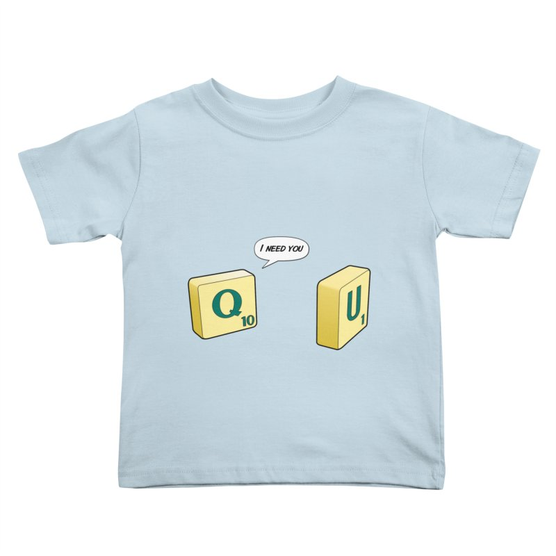 Scrabble love Kids Toddler T-Shirt by peregraphs's Artist Shop