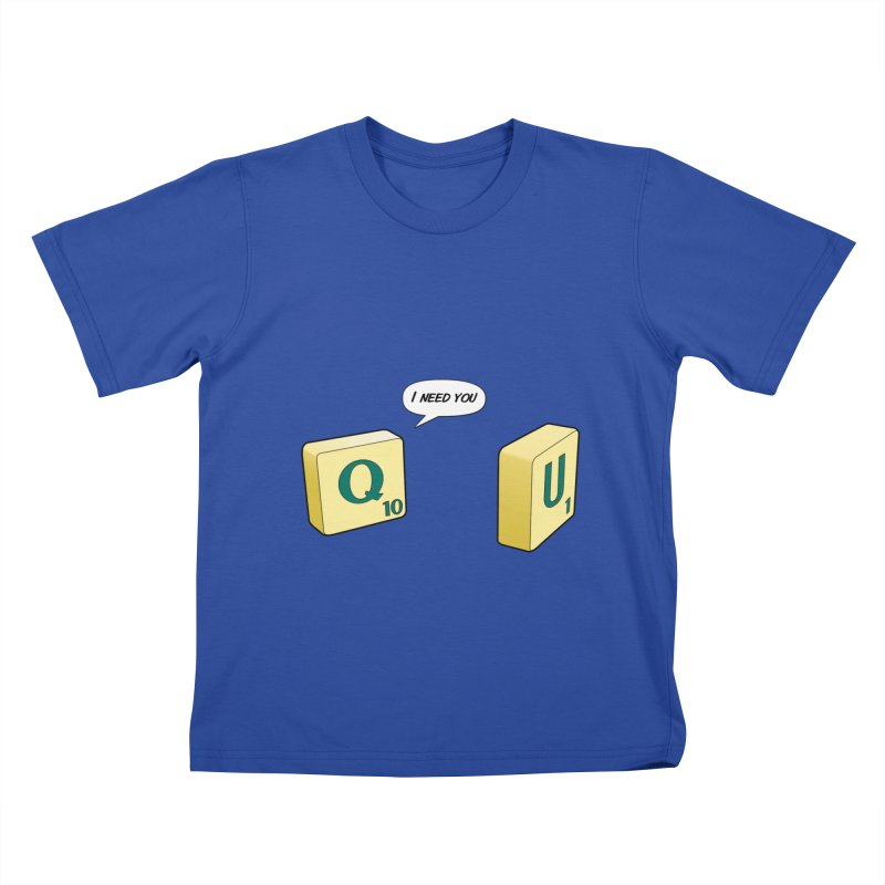 Scrabble love Kids T-shirt by peregraphs's Artist Shop