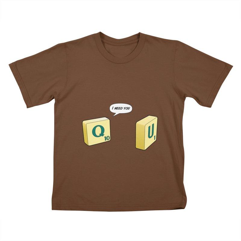 Scrabble love Kids T-Shirt by peregraphs's Artist Shop