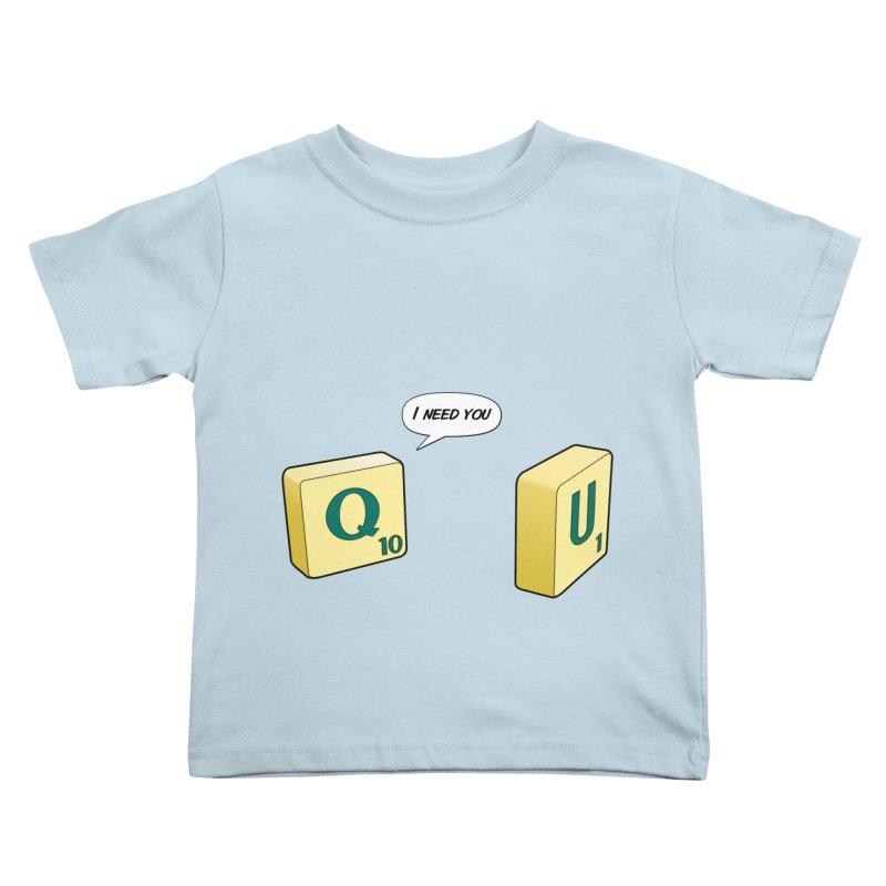 Scrabble love Kids Toddler T-Shirt by peregraphs's Artist Shop