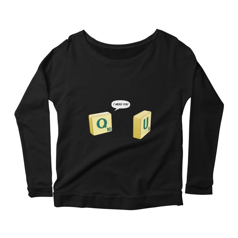 Scrabble love Women's Scoop Neck Longsleeve T-Shirt by peregraphs's Artist Shop