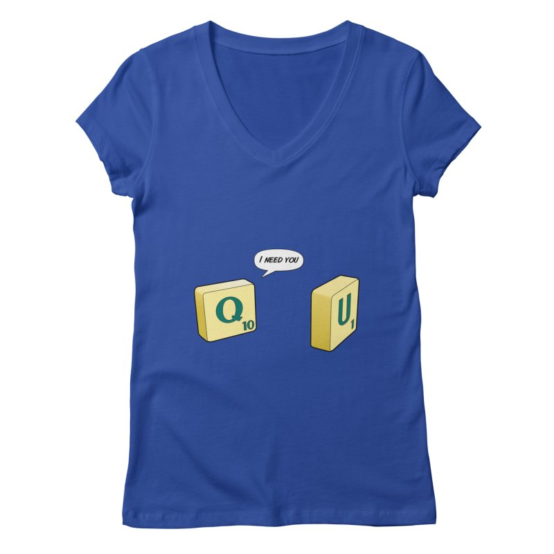 Scrabble love Women's V-Neck by peregraphs's Artist Shop